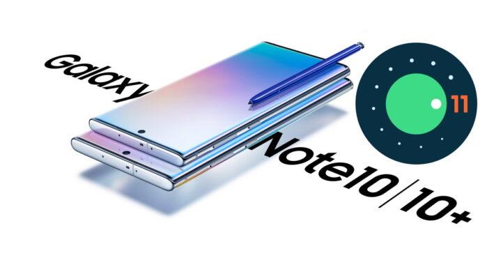 Samsung Galaxy Note 10 e Note 10 Plus Android 11 aggiornamento