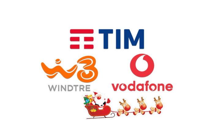 Vodafone TIM WindTRE solidarietà digitale Natale Giga illimitati
