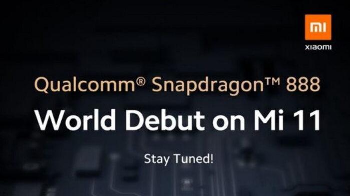 Xiaomi MI 11 debutto mondiale con Snapdragon 888
