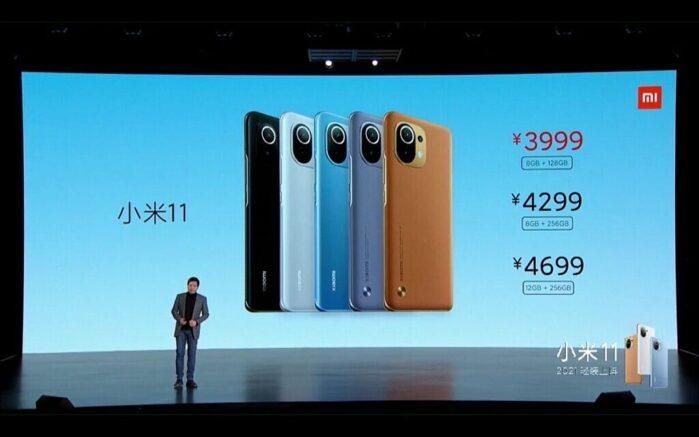 Xiaomi MI 11 prezzi in Cina