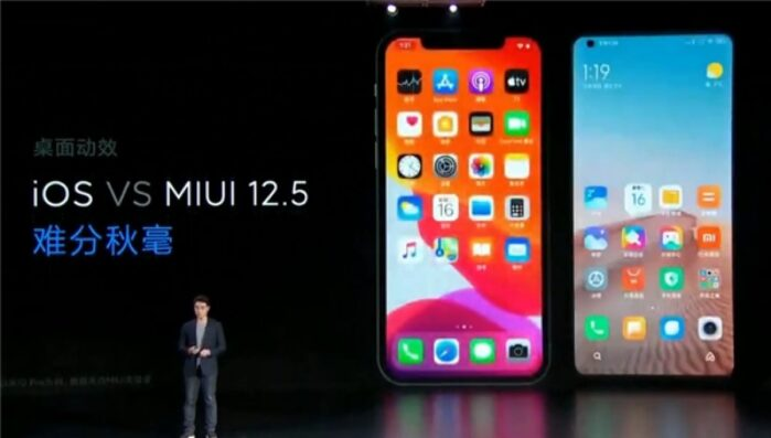 Xiaomi MIUI 12.5 vs Apple iOS