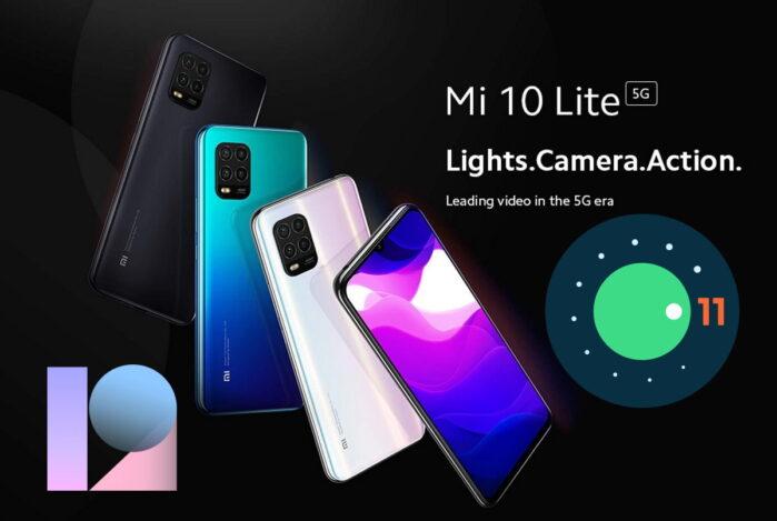 Xiaomi Mi 10 Lite 5G Android 11 con MIUI 12 in Italia