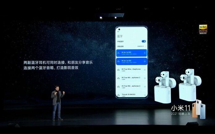 Xiaomi Mi 11 doppio Bluetooth