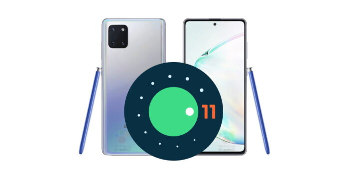 Galaxy Note 10 Lite Android 11 con ONE UI 3.0
