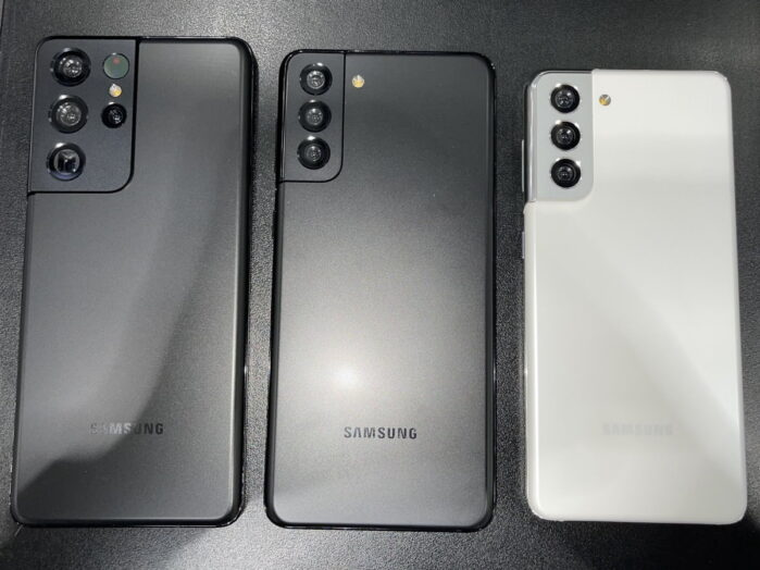 Galaxy S21 Ultra, S21 Plus e S21 immagine dal vivo