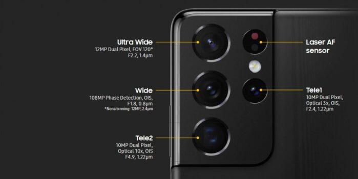 Galaxy S21 Ultra fotocamere posteriori