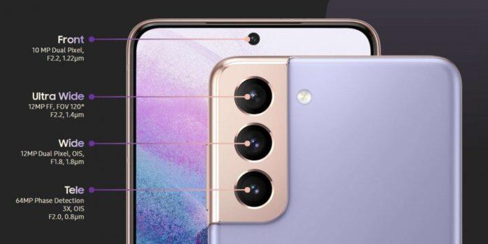 Galaxy S21 e S21 Plus comparto fotografico posteriore