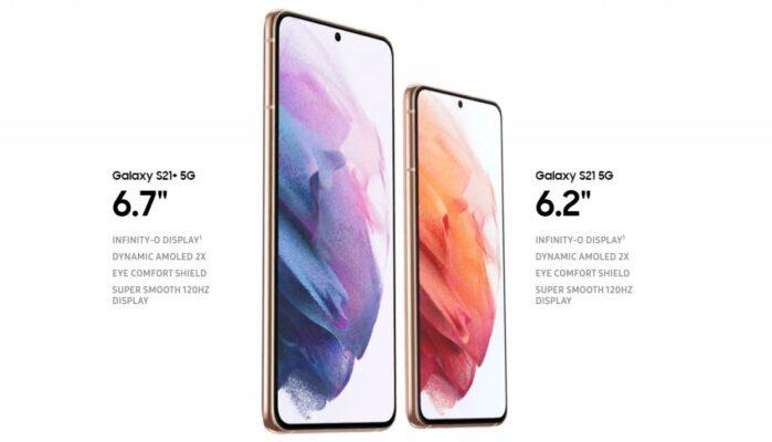 Galaxy S21 e S21 Plus display