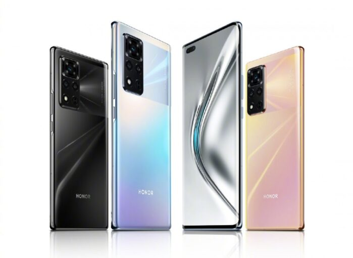 Honor V40 5G design e colori