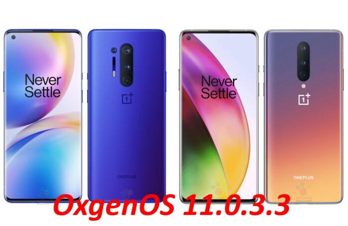 OnePlus 8 e 8 Pro aggiornamento OxygenOS 11.0.3.3 disponibile