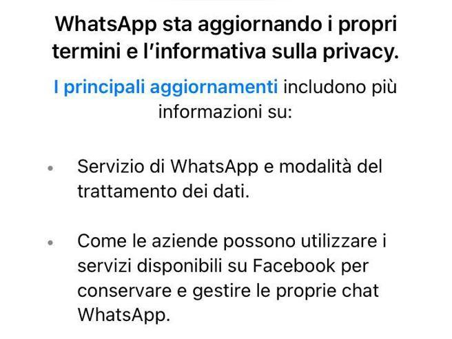 WhatsApp Dati privacy condivisi su società Facebook