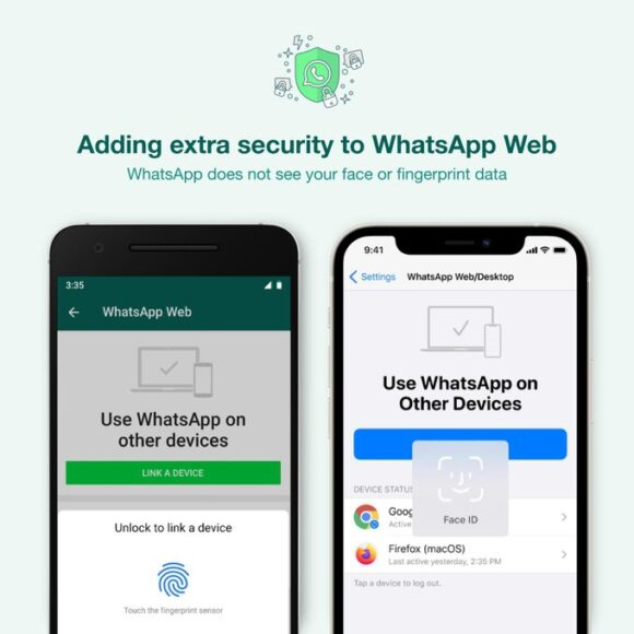 WhatsApp Web e Desktop più sicurezza con autenticazione biometrica