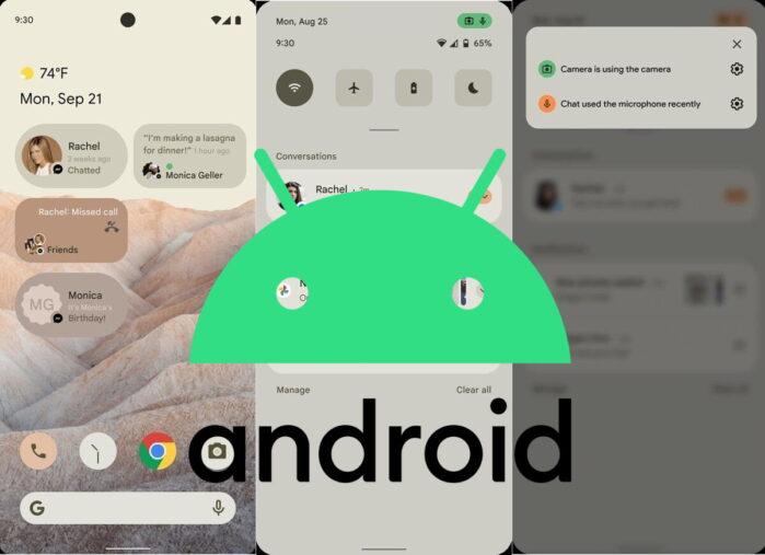 Android 12 rumors riprogettazione interfaccia nuove funzionalità