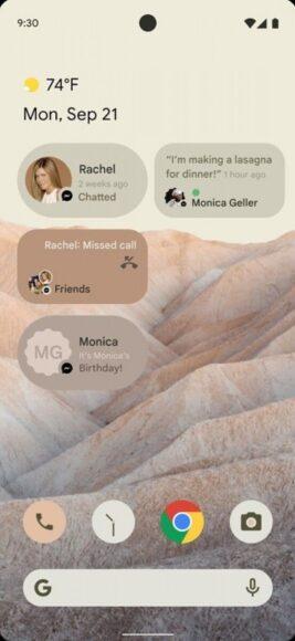 Android 12 widget conversazioni 1
