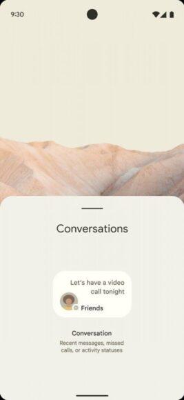 Android 12 widget conversazioni 3