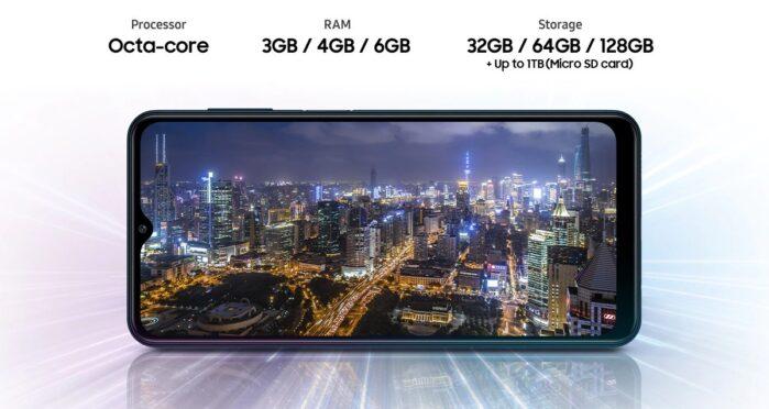 Galaxy M12 processore e memoria