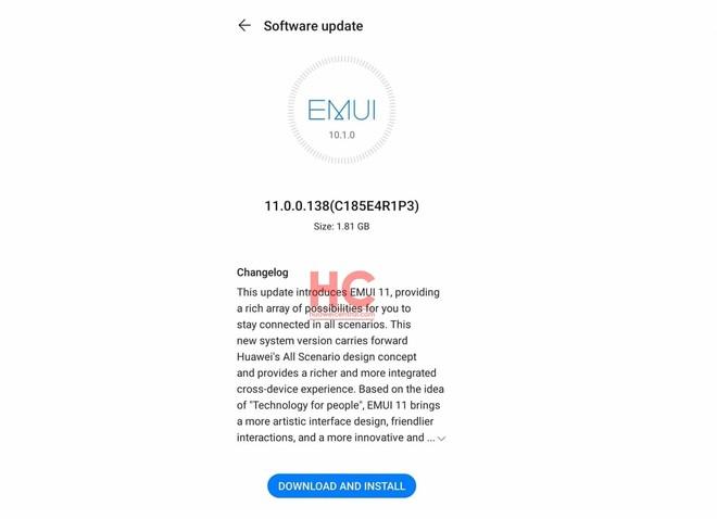 Huawei P30 e P30 Pro aggiornamento EMUI 11 in Europa