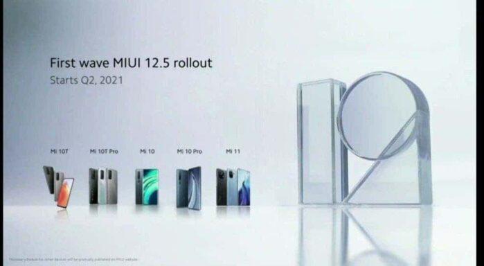 MIUI 12.5 Globale smartphone aggiornabili primo step