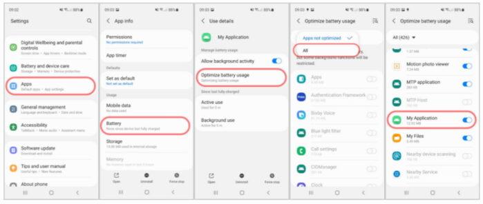 Samsung ONE UI 3 problemi gestione App in Background