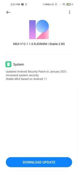 Xiaomi MI 10T Pro Android 11 MIUI 12 beta stabile