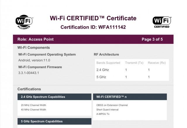 Galaxy M42 5G certificazione Wifi Alliance