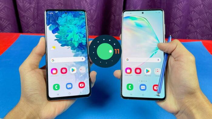 Galaxy Note 10 e Galaxy S20 FE 4G con Galaxy A52 4G aggiornamento patch aprile 2021