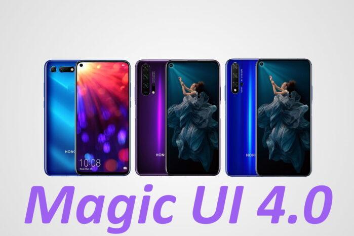 Honor 20 V20 aggiornamento Magic UI 4.0
