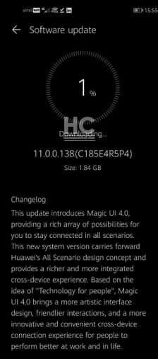 Huawei Magic 4.0 su Honor 20 e V20