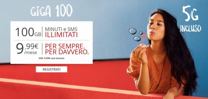 Iliad Giga 100 nuova offerta 5G