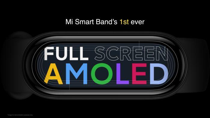 Mi Smart Band 6 display Amoled