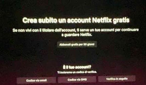 Netflix Account condivisi verifica e blocco
