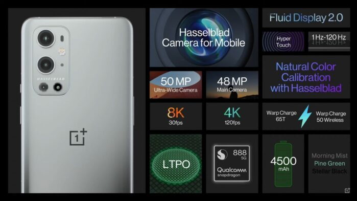 OnePlus 9 Pro dettagli generici
