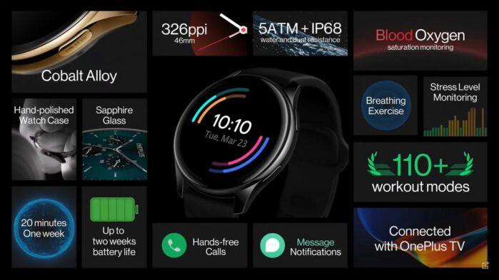 OnePlus Watch caratteristiche generali