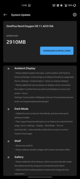 OxygenOS 11 OnePlus Nord Android 11 bis