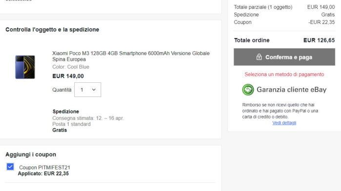 Poco M3 Xiaomi MI Fan Festival 2021 prezzo coupon