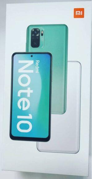 Redmi Note 10 scatola di vendita