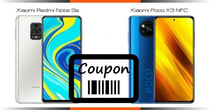 Redmi Note 9S e Poco X3 NFC prezzo coupon da 135 euro