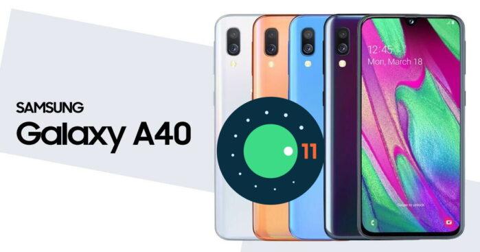 Samsung Galaxy A40 aggiornamento Android 11 ONE UI 3.0