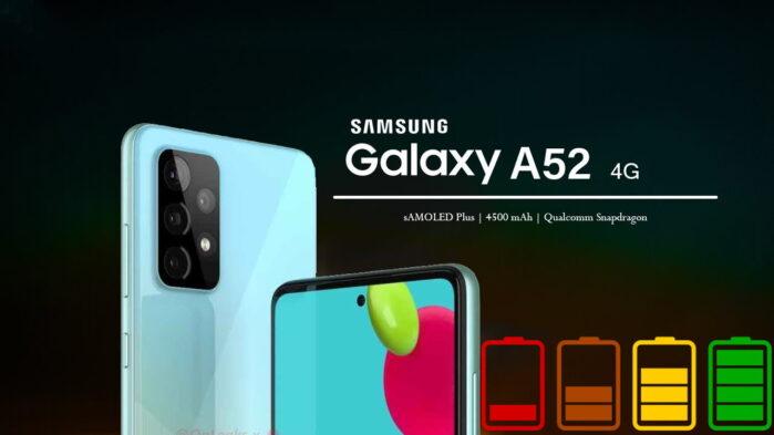 Samsung Galaxy A52 4G recensione autonomia batteria