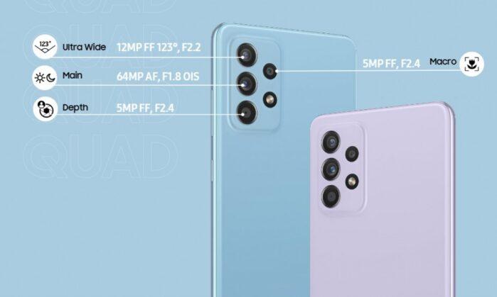 Samsung Galaxy A52 fotocamere
