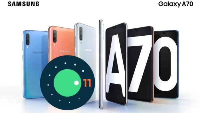 Samsung Galaxy A70 aggiornamento Android 11 ONE UI 3.1