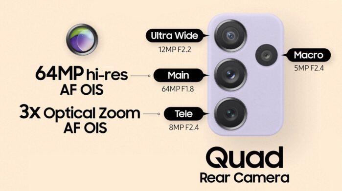 Samsung Galaxy A72 camere
