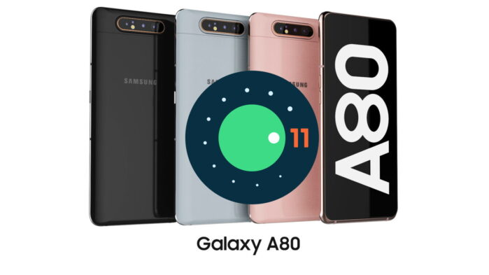 Samsung Galaxy A80 aggiornamento Android 11 ONE UI 3.1