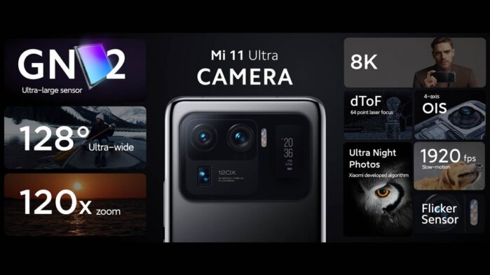 Xiaomi MI 11 Ultra fotocamere