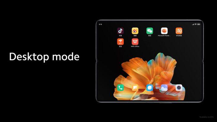 Xiaomi MI Mix Fold desktop mode