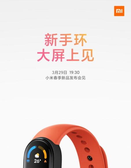 Xiaomi Mi Smart Band 6 29 marzo 2021