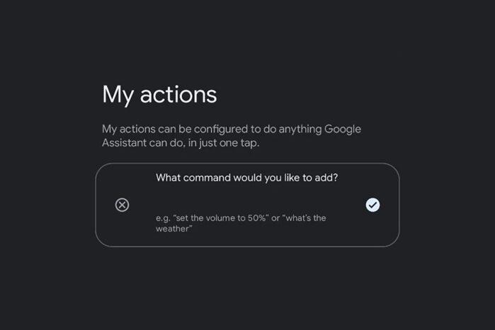 App Google Assistant le mie azioni rumors