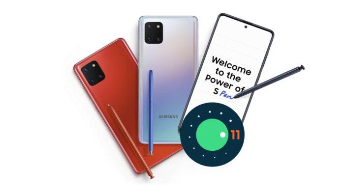 Galaxy Note 10 Lite aggiornamento patch aprile 2021