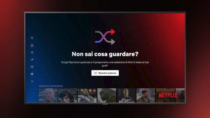 Netflix Riproduci Qualcosa nuova funzione