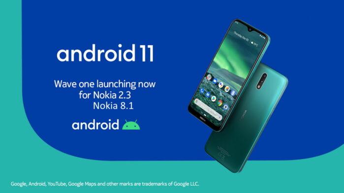Nokia 2.3 e Nokia 8.1 si aggiornano ad Android 11